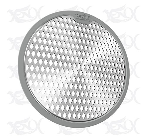 Drain Hair Catcher / Shower Drain Protector / Strainer / Stainless Steel No. 304 & Silicone Edge / by FNX Group Inc.
