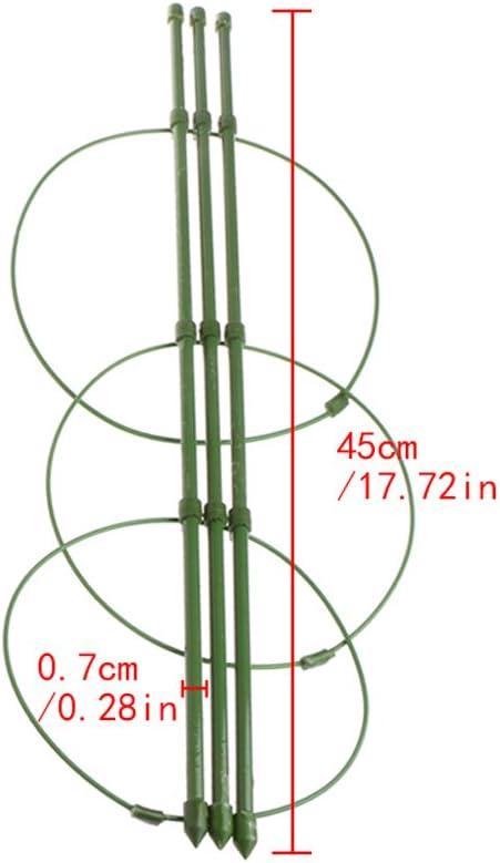 chenpaif Jardin Plantes Support Plantes grimpantes 45 cm 60 cm Cadre de Support de Treillis Conique