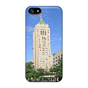 GoldenArea Case For Iphone 5/5s With Nice The Fisher Building In Detroit Mi Appearance