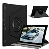 Lenovo Tab 2 A10-70 Case, Pasonomi® 360 Degree Rotating Magnetic Smart PU Leather Stand Cover Case With Smart Cover Auto Wake / Sleep Feature for Lenovo Tab 2 A10-70 10.1 Inch Android Tablet (360 Rotating Series Black)