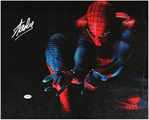 Stan Lee Marvel Comics Authentic Signed 16X20 Spider-Man Canvas PSA/DNA #6A20994 from PRESS PASS COLLECTIBLES