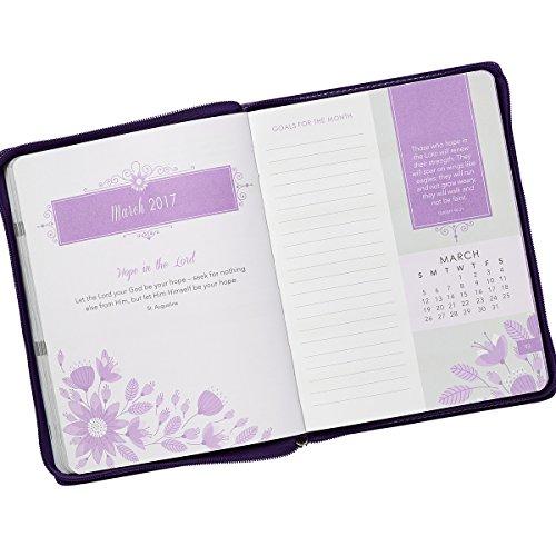 2017 Flower Applique 18 Month Zippered Inspirational Daily Planner – 1 Corinthians 13:13