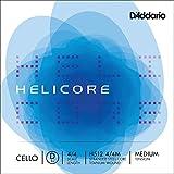 D'Addario Helicore Cello Single D String, 4/4 Scale, Medium Tension