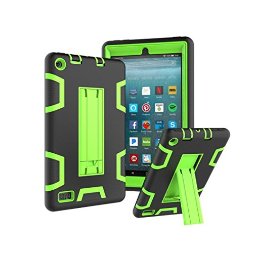Price comparison product image Mchoice Layer Hybrid Armor Protective Stand Cover Case for Amazon Kindle Fire 7 Inch (2017) (L)