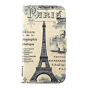 QYF Tower Pattern PU Leather Case with Card Slot for Samsung Galaxy S5 I9600