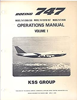 boeing 747 model 747 206b 306 model 747 257b 357 model 747 283b rh amazon com 747-400 operations manual 737 operating manual