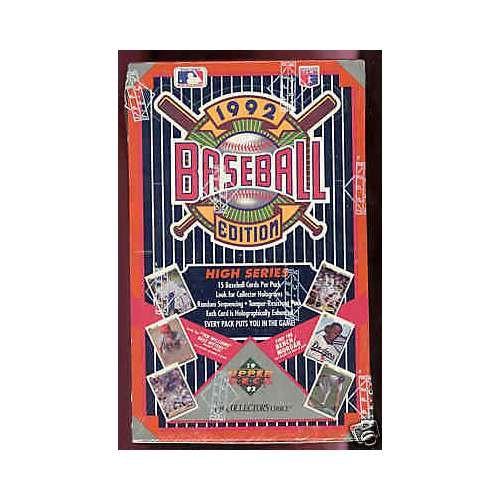 1992 Upper Deck Baseball Wax Pack Box High Series Find Jo...
