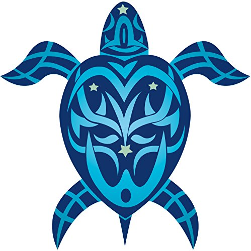 Hawaiian Turtle Decals - Tribal Honu Turtle - Hawaiian Art Decal - Car Window Bumper Sticker