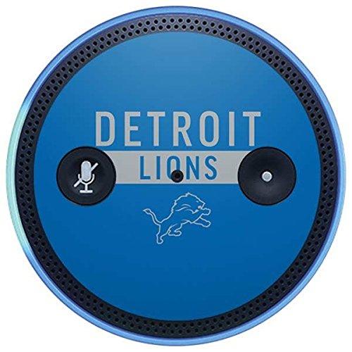 Skinit NFL Detroit Lions Amazon Echo Plus Skin - Detroit Lions Blue Performance Series Design - Ultra Thin, Lightweight Vinyl Decal Protection
