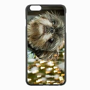 iPhone 6 Plus Black Hardshell Case 5.5inch - dog muzzle puppy eyes Desin Images Protector Back Cover