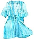 Best La Leela Bottom Covers - LA LEELA Tie Dye Rayon Kimono Swim Cover Review