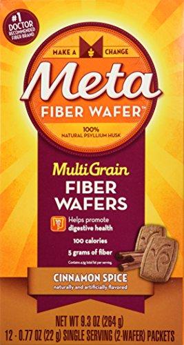 - Metamucil MultiGrain Fiber Wafers Cinnamon Spice - 12ct
