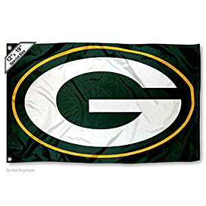 Immature Bay Packers Boat and Golf Cart Flag