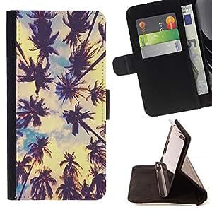 BullDog Case - FOR/Samsung Galaxy Note 3 III / - / los Angeles sun summer sky nature city /- Monedero de cuero de la PU Llevar cubierta de la caja con el ID Credit Card Slots Flip funda de cuer