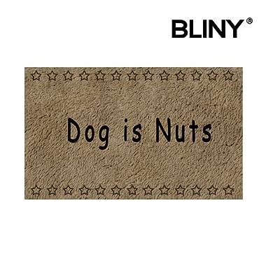 BLINY Doormat Indoor/Outdoor Dog Is Nuts Bathroom/Kitchen Decor Rug Mat Welcome Doormat - 30 (L) x 18 (W)Inch