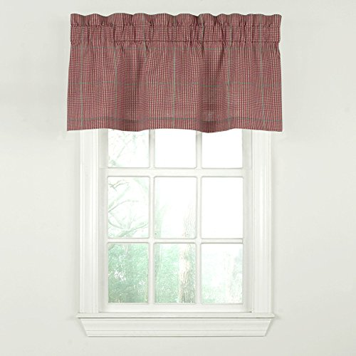 Waverly Grantham Plaid Straight Valance- Rose Hip 52