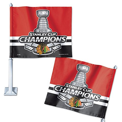 WinCraft Chicago Blackhawks 2015 Stanley Cup Championship Car Flag - Red,