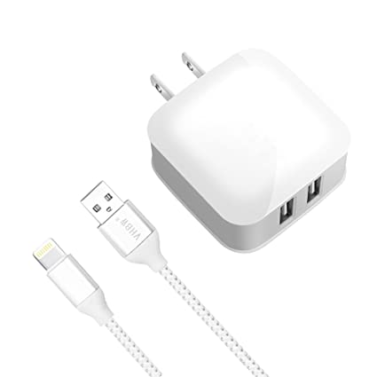 IPad Charger IPhone IPod 5V 24A Dual USB Wall Portable