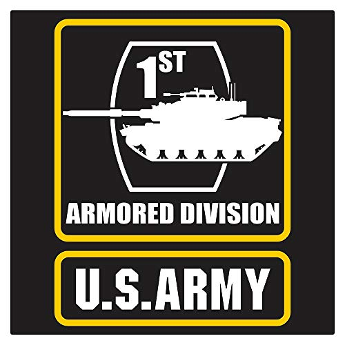 US Army 1st Armored Div M-60 Frame Die Cut Decal (Div Decal)