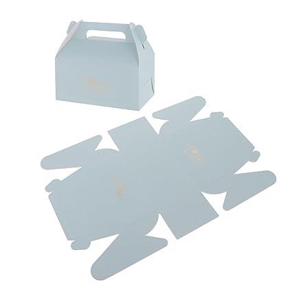 gazechimp Pastelería Caja para tartas Caja del paquete de regalo con asa, Set/20pcs