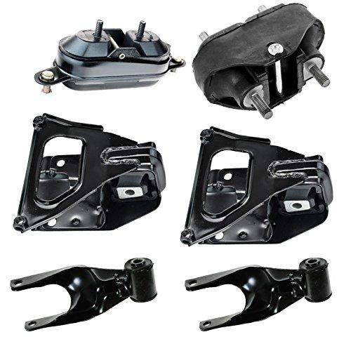 Complete Engine Transmission Torque Mount Set of 6 Kit for Grand Prix Impala 3.8 Complete Engine Mount Set
