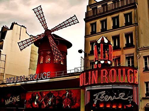 A-05 Moulin Rouge 40 cm x 30 cm Framed poster with 4 Shade/'s of Frame