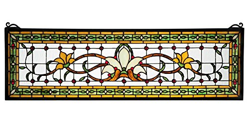 Meyda Tiffany 119444 Fairytale Transom Stained Glass Window Panel, 33