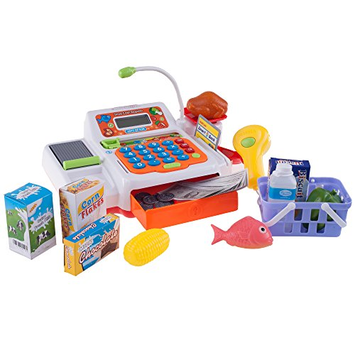 Hey! Play! Pretend Electronic Cash Register with Real Sound