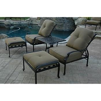 Amazoncom Elizabeth Outdoor Patio 5pc Adjustable Club Chairs