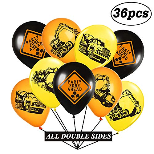 Construction Birthday Party Balloons - Kids Construction Zone Themed Party Supplies Decorations Balloons