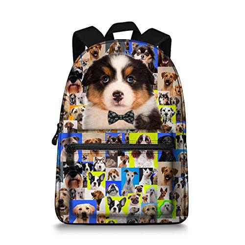 Animal Backpack - BullDog/Husky/Border Collie Designs Canvas -