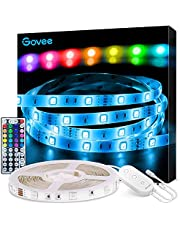 Govee LED Strip Lights, 16.4FT RGB LED Lights with Remote Control, 20 Colors and DIY Mode Color Changing Light Strip, Cuttable and Strong Adhesive, Easy Installation LED Lights Strip for Bedroom, Ceiling, Kitchen