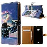 Mybase-Nokia Microsoft Lumia 535 Case,elegant Fashion Style and Deluxe Book Style Folio Stand Pu Leather Wallet with Magnet Design Flip Case Cover, Credit Card Holder for Nokia Microsoft Lumia 535