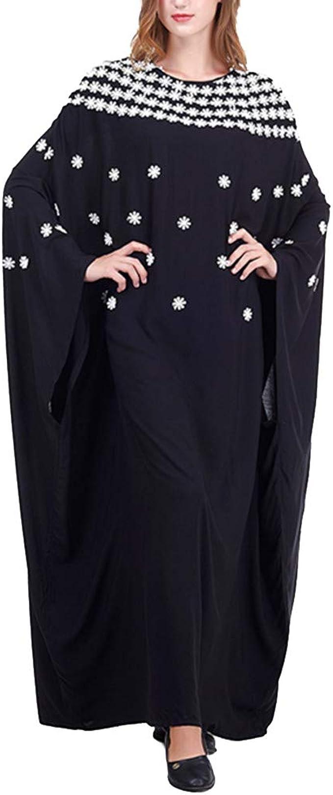Vestidos Largo Abaya Kaftan Mujer - Ropa Jalabiya Musulmana Islamic Camisa Arabes Bordado Manga de Murciélago Vintage: Amazon.es: Ropa y accesorios
