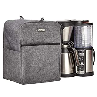 HOMEST Dust Cover for Ninja Hot and Cold Brewed System, Ninja Programmable Coffee Brewer, Ninja Specialty Coffee Maker, CE251, CP307, CP301, CE201, CM407BRN, CM407, CM401, Grey (Patent Pending)