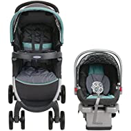 Graco FastAction Fold Click Connect Travel System Stroller, Affinia, One Size