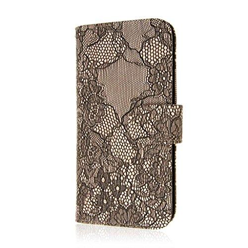 MPERO FLEX FLIP Wallet Case Étui Coque pour Apple iPhone 6 Plus - Noir / Black Lace