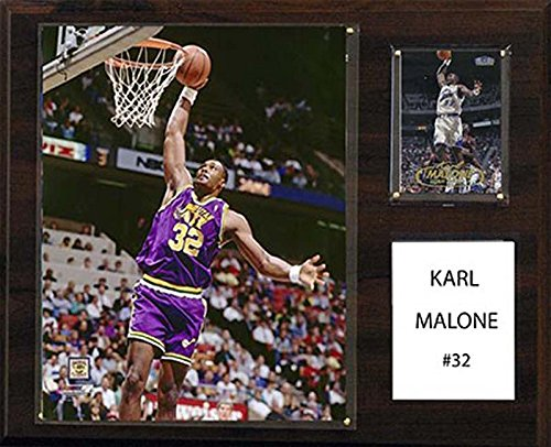 (C&I Collectables NBA Utah Jazz Karl Malone Player Plaque, 12 x 15-Inch)