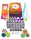 ruffle baking cups - Russian Piping Tips Set 62Pc Cake Decorating Supplies-Pro Grade Piping Bags & Tips-How To Book-Large Baking Supplies Kit-Fun & Easy Icing Tips Cupcake Decorating Kit For Piping Like a Pro