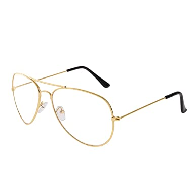 2b0275b1e0 Forepin® - Gafas de metal, estilo retro de aviador. Gafas como accesorio de