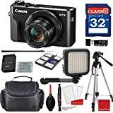 Canon PowerShot G7 X Mark II Digital Camera w/1 Inch Sensor and tilt LCD screen - Wi-Fi & NFC Enabled + Video Accessory Bundle