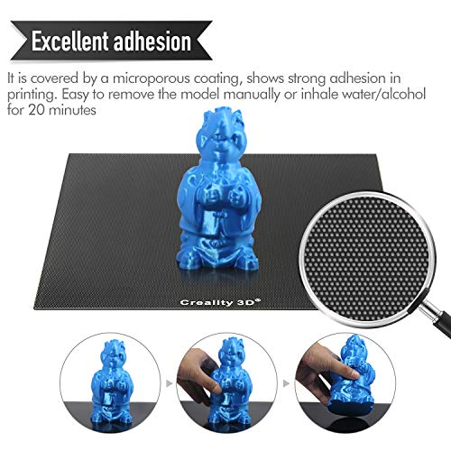 Creality Upgraded 3D Printer Platform Glass Plate Panel 235X235MM Heated Bed Glass Print Bed Build Surface with Microporous Coating for Ender-3/ Ender-3 Pro/Ender-3S/Ender-3X