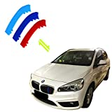 #6: Jackey Awesome Exact Fit ///M-Colored Grille Insert Trims For 2014-2016 BMW F22 F24 2 Series Active Tourer 218i 218d 220i 225i Black Kidney Grilles (For BMW 2014-2016 2 Series,12 Beams)