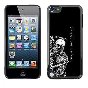 Caucho caso de Shell duro de la cubierta de accesorios de protección BY RAYDREAMMM - Apple iPod Touch 5 - Fue a la universidad Esqueleto divertido gótico