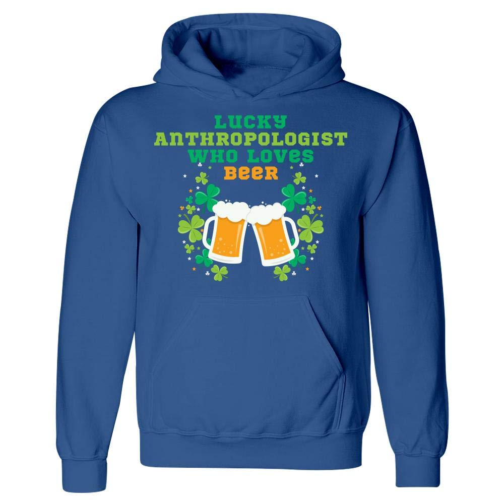 Lucky Anthropologist Who Loves Beer St Patricks Day Graphic Hoodie