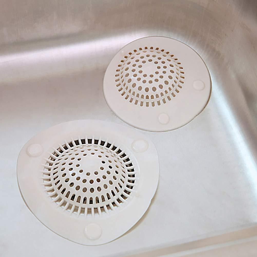 Abflusssieb f/ür Badezimmer Gr/ö/ße S beige Housesweet Abfluss-Abdeckung f/ür K/üchensp/üle