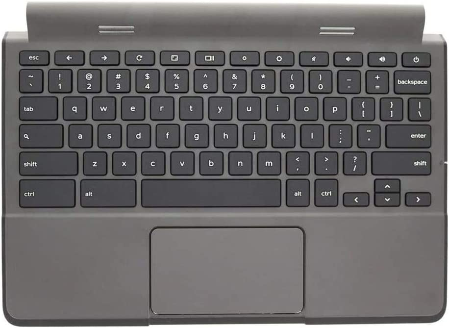 Replacement for Dell Chromebook 11 P22T 3120 Laptop Upper Case Palmrest Keyboard Touchpad Assembly Part RHFX 0RHFXP 0R36YR R36YR Top Cover