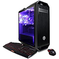 CYBERPOWERPC Gamer Xtreme GXi10140A Desktop Gaming PC (Intel i5-7600K 3.8GHz, NVIDIA GT 730 2GB, 8GB DDR4 RAM, 1TB 7200RPM HDD, Win 10 Home), Black