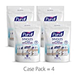 PURELL Singles Advanced Hand Sanitizer Gel with Carry Pouch, 4 – 24 Count Portable Sanitizer Gel Single Use Pouches (Pack of 4) – 9630-08-EC