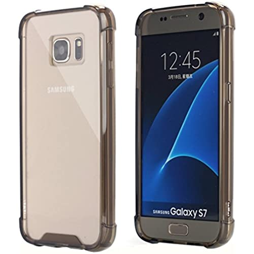 Galaxy S7 Case, AICase Ultra Crystal Clear Cushion Slim Fit Scratch Resistant Protective Case Cover with Hybrid Transparent Back and Shock Absorption TPU Sales